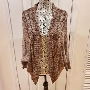 Brown long cardigan
